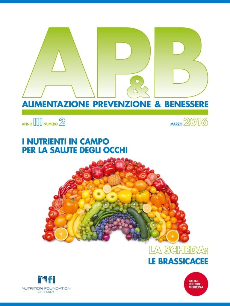 Ap B Alimentazione Prevenzione Benessere N 2 Marzo 2016